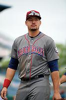 Lehigh Valley IronPigs right fielder Dylan Cozens (31) after a game against the Syracuse Chiefs on May 20, 2018 at NBT Bank Stadium in Syracuse, New York.  Lehigh Valley defeated Syracuse 5-2.  (Mike Janes/Four Seam Images)