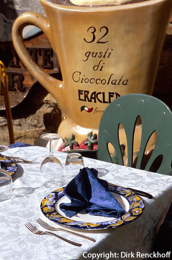 Italien, Umbrien, trasimenischer See, Restaurant auf der Isola Maggiore