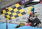 Ballyea fans settle in before the All-Ireland Club Hurling Final against Cuala at Croke Park. Photograph by John Kelly.