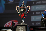 HOT SPRINGS, AR - AUGUST 12: The FLW Forrest Wood Cup trophy before the weigh-in on Lake Ouachita in Hot Springs, Arkansas. (Photo by Justin Manning/Eclipse Sportswire/Getty Images)