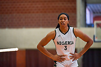 Pallas Kunaiyi-Akpanah (3) of Nigeria pictured during a basketball game between Nigeria and Puerto Rico on Friday 28 th of May 2021 in Kortrijk , Belgium . PHOTO SPORTPIX.BE | SPP | STIJN AUDOOREN
