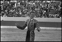 15 Septembre 1968. Vue du torero Tinin , dans les arènes de Toulouse.