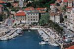 .Split town.Cruise in Croatia. Island of Dalmatia.