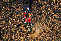 5th January 2021; Dakar Rally stage 3; #04 Cornejo Florimo Jose Ignacio (chl), Honda, Monster Energy Honda Team 2021, Motul, Moto, Bike, action during the 3rd stage of the Dakar 2021 between Wadi Al Dawasir and Wadi Al Dawasir, in Saudi Arabia on January 5, 2021