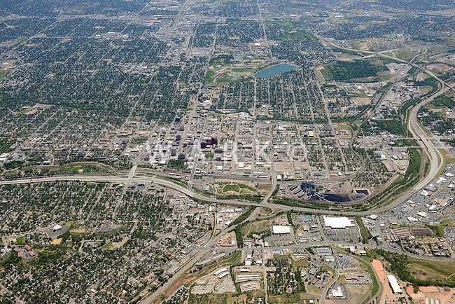 Aerial of Colorado Springs, Colorado. June 2014. 85575