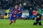 FC Barcelona's Leo Messi , Real Sociedad's Geronimo Rulli during the match of La Liga, between Real Sociedad and Futbol Club Barcelona at Anoeta Stadium, San Sebastian , Spain. November 27, 2016. (ALTERPHOTOS/Rodrigo Jimenez)