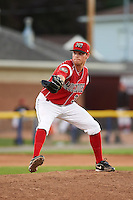 Batavia Muckdogs pitcher Jeffrey Kinley (30) delivers a pitch during a game against the Mahoning Valley Scrappers on June 23, 2015 at Dwyer Stadium in Batavia, New York.  Mahoning Valley defeated Batavia 11-2.  (Mike Janes/Four Seam Images)