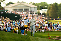 .Winner Sean O'Hair (left) with caddie Paul Tesori make their way down the 17th fairway during the Quail Hollow Championship golf tournament 2009. The event, formerly called the Wachovia Championship, is a top event on the PGA Tour, attracting such popular golf icons as Tiger Woods, Vijay Singh and Bubba Watson. Photo from the final round in the Quail Hollow Championship golf tournament at the Quail Hollow Club in Charlotte, N.C., Sunday , May 03, 2009..