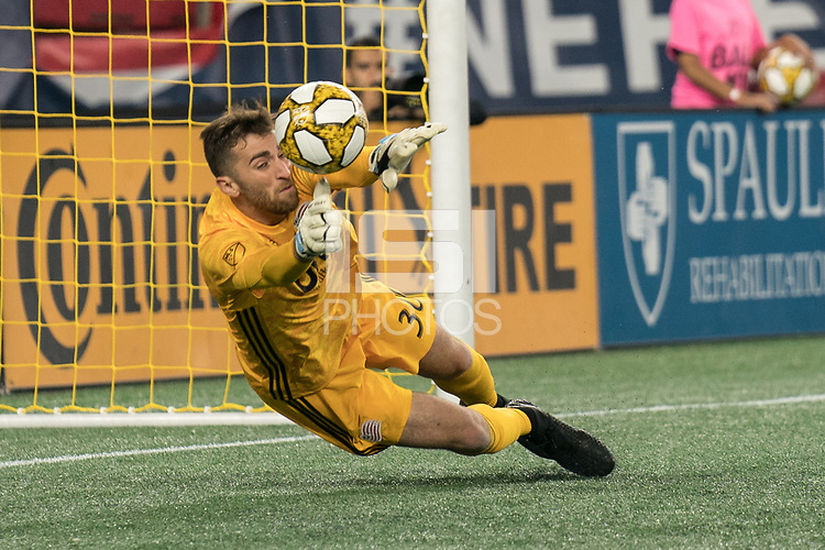 FOXBOROUGH, MA - SEPTEMBER 29:  during a game between New York City FC and New England Revolution at Gillettes Stadium on September 29, 2019 in Foxborough, Massachusetts.