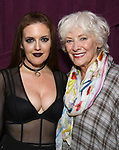 """Jennifer Simard and Betty Buckley backstage after """"Stigma"""" on September 9, 2018 at the Green Room 42 in New York City."""