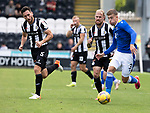 St Mirren v St Johnstone…29.08.21  SMiSA Stadium    SPFL<br />Reece Devine gets away from Richie Tait<br />Picture by Graeme Hart.<br />Copyright Perthshire Picture Agency<br />Tel: 01738 623350  Mobile: 07990 594431