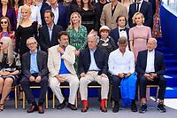 Jane CAMPION, Roman POLANSKI, Ken LOACH, Nanni MORETTI, Costa GAVRAS, Bille AUGUST et Mohammed LAKHDAR-HAMINA, PHOTO CALL réunissant les personnalités présentes pour les 70 ans, dans le cadre de la journée anniversaire de la 70e édition du Festival du Film à Cannes, Palais des Festivals et des Congres, Cannes, Sud de la France, mardi 23 mai 2017. Philippe FARJON / VISUAL Press Agency
