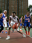 Rick Jackson (40) looks up at the basket during the Elite 24 Hoops Classic game on September 1, 2006 held at Rucker Park in New York, New York.  The game brought together the top 24 high school basketball players in the country regardless of class or sneaker affiliation.