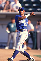 1996: Andruw Jones of the Durham Bulls before California / Carolina League All Star Game at The Epicenter in Rancho Cucamonga,CA.  Photo by Larry Goren/Four Seam Images