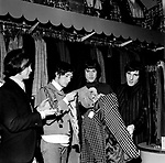 Kinks 1966 Dave Davies, Pete Quaife,Ray Davies and Mick Avory in Carmaby Street after release of Dedicated Follower Of Fashion.