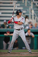 Lake Elsinore Storm designated hitter Hudson Potts (15) at bat during a California League game against the Modesto Nuts at John Thurman Field on May 11, 2018 in Modesto, California. Modesto defeated Lake Elsinore 3-1. (Zachary Lucy/Four Seam Images)