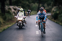 Sondre Enger (NOR/Israel Cycling Academy) leading the race<br /> <br /> Trofeo Lloseta - Andratx: 140km<br /> 27th Challenge Ciclista Mallorca 2018
