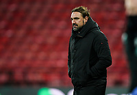 Norwich City manager Daniel Farke at the final whistle during the Sky Bet Championship behind closed doors match played without supporters with the town in tier 4 of the government covid-19 restrictions, between Watford and Norwich City at Vicarage Road, Watford, England on 26 December 2020. Photo by Andy Rowland.