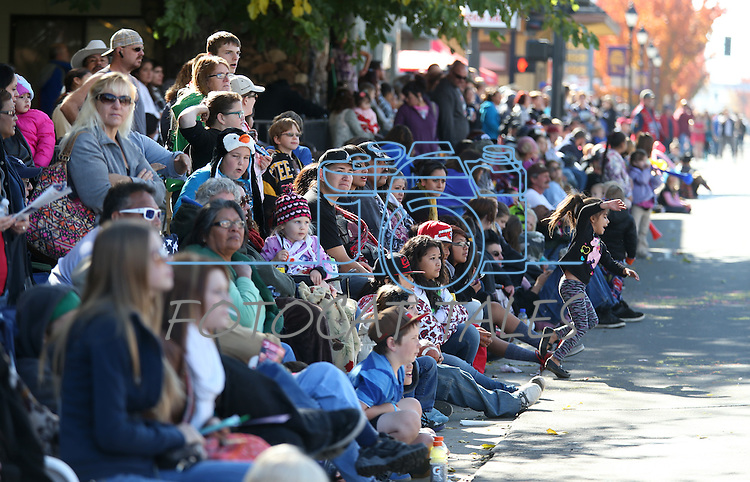 Thousands of people attend the 75th annual Nevada Day parade in Carson City, Nev., on Saturday, Oct. 26, 2013.<br /> Photo by Cathleen Allison
