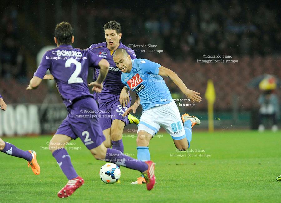 - NAPOLI 23 MAR  -  Stadio San Paolo    Napoli -  Fiorentina<br />  nella foto <br />  Inler