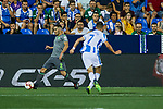 Leganes' Daniel Ojeda and Real Sociedad's Joseba Zaldua during La Liga match. August 24, 2018. (ALTERPHOTOS/A. Perez Meca)