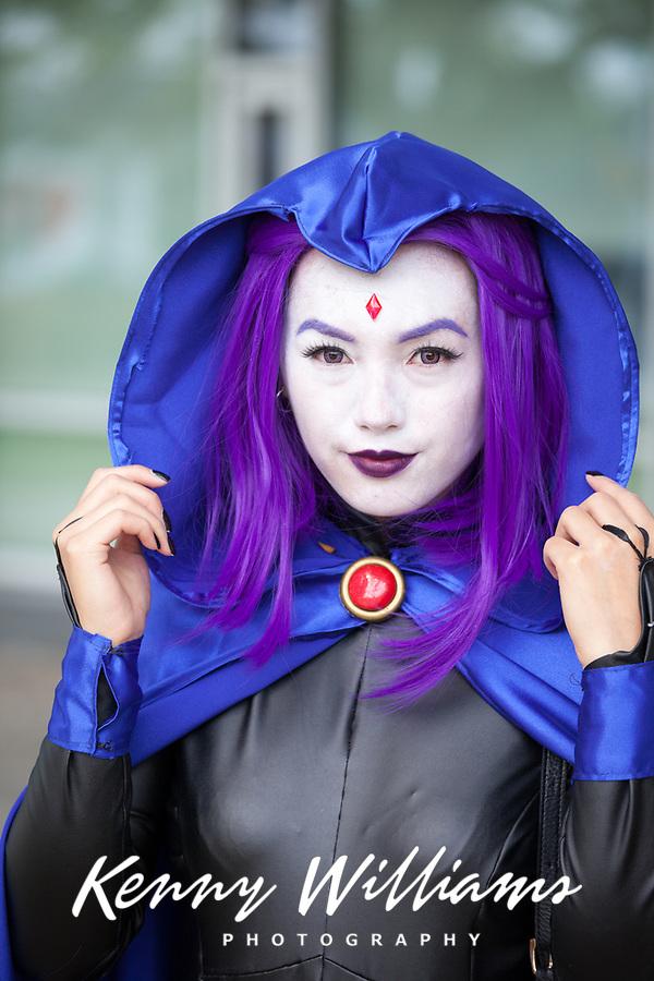 Raven from Teen Titans Cosplay, Renton City Comicon 2017, WA, USA.
