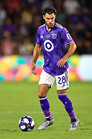 Orlando, FL - Wednesday July 31, 2019:  Graham Zusi #28 during an Major League Soccer (MLS) All-Star match between the MLS All-Stars and Atletico Madrid at Exploria Stadium.