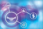 Illustration of online business concept
