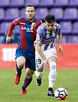 Real Valladolid's Jose Arnaiz (r) and Levante UD's Paco Montanes during La Liga Second Division match. March 11,2017. (ALTERPHOTOS/Acero)