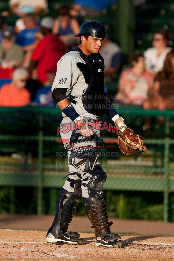 Anderson De La Rosa (22) of the Brevard County Manatees during a game vs. the Daytona Beach Cubs May 25 2010 at Jackie Robinson Ballpark in Daytona Beach, Florida. Daytona won the game against Brevard by the score of 5-3.  Photo By Scott Jontes/Four Seam Images