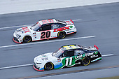 #20: Harrison Burton, Joe Gibbs Racing, Toyota Supra DEX Imaging, #11: Justin Haley, Kaulig Racing, Chevrolet Camaro LeafFilter Gutter Protection