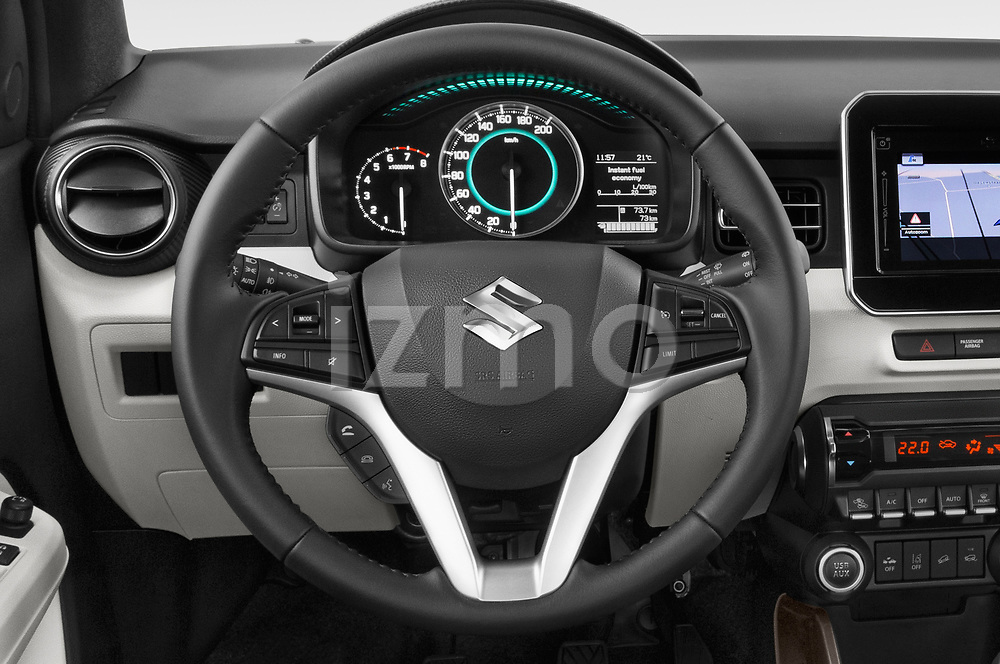 Car pictures of steering wheel view of a 2018 Suzuki Ignis GLX 5 Door Hatchback