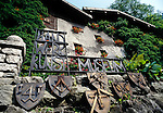 Austria, Tyrol, Rattenberg: entrance of craftwork museum