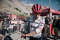 Markel Irizar (ESP/Trek-Segafredo) checking his wounds after finishing up the Col d'Izoard (HC/2360m/14.1km/7.3%)<br /> <br /> 104th Tour de France 2017<br /> Stage 18 - Briancon › Izoard (178km)