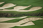 Bunkers at the 15th hole during Round 2 of the World Ladies Championship 2016 on 11 March 2016 at Mission Hills Olazabal Golf Course in Dongguan, China. Photo by Victor Fraile / Power Sport Images
