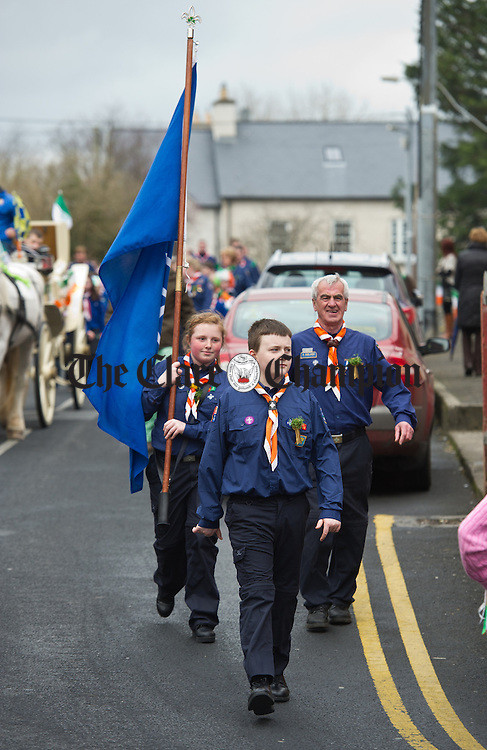 Scouts taking part in the St Patrick's Day Parade at Sixmilebridge. Photograph by John Kelly.