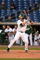 USF Bulls infielder Kyle Teaf (3) at bat during a game against the Louisville Cardinals on February 14, 2015 at Bright House Field in Clearwater, Florida.  Louisville defeated USF 7-3.  (Mike Janes/Four Seam Images)