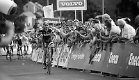 David Garcia Lopez (ESP) wins the stage<br /> <br /> Eneco Tour 2013<br /> stage 6: Riemst - Aywaille (La Redoute) <br /> 150km