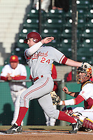 Jake Stewart of the Stanford Cardinal bats against the USC Trojans at Dedeaux Field in Los Angeles,California on April 8, 2011. Photo by Larry Goren/Four Seam Images