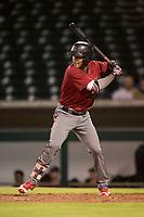 AZL Diamondbacks designated hitter Dalgeli Diaz (28) at bat during an Arizona League game against the AZL Cubs 1 at Sloan Park on June 18, 2018 in Mesa, Arizona. AZL Diamondbacks defeated AZL Cubs 1 7-0. (Zachary Lucy/Four Seam Images)