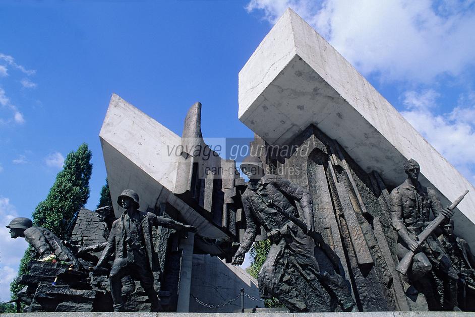 Europe/Pologne/Varsovie: Monument à la mémoire des insurgés de Varsovie