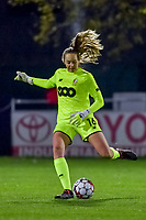 Standard goalkeeper Lisa Lichtfus (16) pictured during a female soccer game between  AA Gent Ladies and Standard Femina de Liege on the 8 th matchday of the 2020 - 2021 season of Belgian Scooore Womens Super League , friday 20 th of November 2020  in Oostakker , Belgium . PHOTO SPORTPIX.BE   SPP   STIJN AUDOOREN