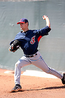 Scott Barnes, Cleveland Indians 2010 minor league spring training..Photo by:  Bill Mitchell/Four Seam Images.