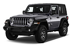 2020 JEEP Wrangler Sport 3 Door SUV Angular Front stock photos of front three quarter view