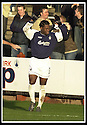 25/1/03       Copyright Pic : James Stewart                  .File Name : stewart-falkirk v hearts 18.COLLIN SAMUEL CELEBRATES AFTER SCORING FALKIRK'S FIRST GOAL............James Stewart Photo Agency, 19 Carronlea Drive, Falkirk. FK2 8DN      Vat Reg No. 607 6932 25.Office : +44 (0)1324 570906     .Mobile : + 44 (0)7721 416997.Fax     :  +44 (0)1324 570906.E-mail : jim@jspa.co.uk.If you require further information then contact Jim Stewart on any of the numbers above.........