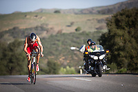 Jan Frodeno competes during the bike  portion of the Accenture Ironman California 70.3 in Oceanside, CA on March 29, 2014.