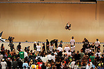 Andy Macdonald competes in the Men's Skateboarding Vert finals at the Staples Center during X-Games 12 in Los Angeles, California on August 3, 2006.