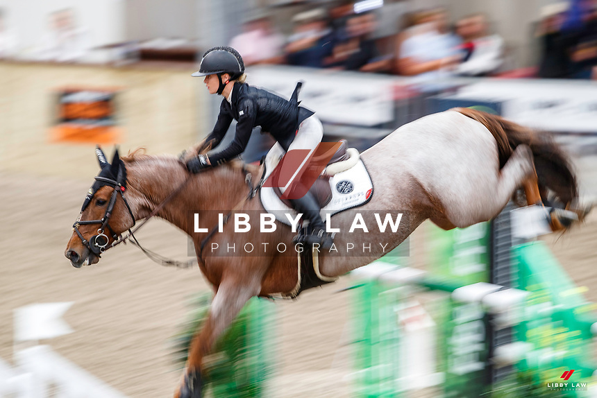 NZL-Briar Burnett-Grant rides Fiber Fresh Veroana. Final-3rd. Class 23: Fiber Fresh Horse 1.40m Ranking Class. 2021 NZL-Easter Jumping Festival presented by McIntosh Global Equestrian and Equestrian Entries. NEC Taupo. Saturday 3 April. Copyright Photo: Libby Law Photography