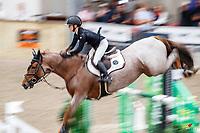 NZL-Briar Burnett-Grant rides Fiber Fresh Veroana. Final-3rd. Class 23: Fiber Fresh Horse 1.40m Ranking Class. 2021 NZL-Easter Jumping Festival presented by McIntosh Global Equestrian and Equestrian Entries. NEC Taupo. Saturday 3 April. Copyright Photo: Libby Law Photography