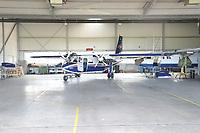 FLN Linienmaschine im Hangar auf dem Flughafen von Harle  - Wangerooge 20.07.2020: Flug nach Wangerooge